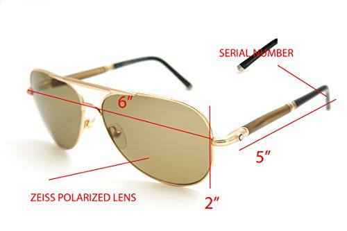 ab37da7be7 ... BlancMont Blanc Authenticity 519S 519 S 28M Gold Brown  Polarized  Aviator Sunglasses 61mm-14mm-140mm. gallery desc. 41GsvfoaWZL-1-1